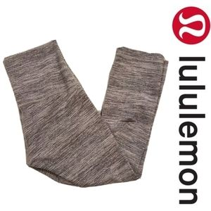 Lululemon Gray Stripe Cropped Leggings